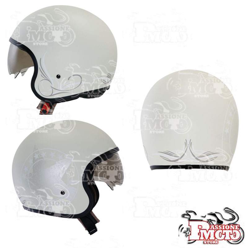 Casco Suomy JET 70'S Custom Milk